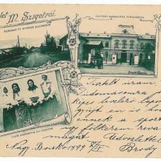 1328 - L i t h o, Maramures, SIGHET, Ethnic - old postcard - used - 1899 - Carte Postala Maramures pana la 1904, Circulata, Printata