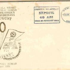 Plic Filatelic EXPOFIL 40 ani 1944-1984, 23.08.1984