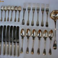 Serviciu placat cu argint de tacamuri germane marca J.A. Henckels Solingen Zwillingswerk