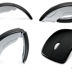 Mouse Wireless Arc Portabil Fara Fir 1600 dpi, 1000-2000