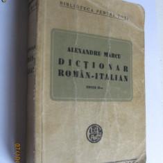 DICTIONAR ROMAN-ITALIAN CU AUTOGRAF DE AUTOR DIN ANII 30