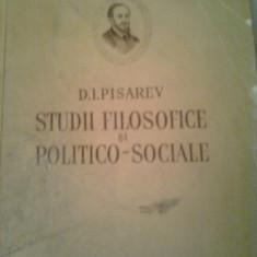 STUDII FILOSOFICE SI POLITICO-SOCIALE  ~  D.I.PISAREV