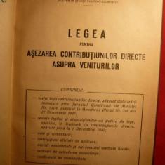 Aurel I.Andriescu - Lege Contributii / Venituri - 1947 - Carte despre fiscalitate