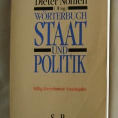 Dieter Nohlen (hrsg.) Worterbuch Staat und POlitik Piper 1995 hartie velina - Enciclopedie