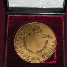 MMD1 - TEMATICA MILITARA - 1995 - 145 ANI JANDARMERIA ROMANA - IN CUTIE - Medalii Romania