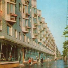 Ilustrata intreg postal, - URSS, Moldova, Chisinau, hotel Intourist