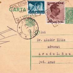 CARTE  POSTALA STAMPILA  MOLDOVA NOUA DR DAMASCHIN ICLOZAN; PTR;DR ALADAR ILIAS ARADUL  NOU AN;1938CPRO-170