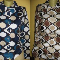 Camasa/bluza de dama - Camasa dama, Marime: 36, M/L, Culoare: Albastru, Maro, Maneca lunga, Casual, Bumbac