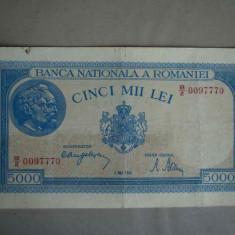 Bancnota 5000 lei 2 mai 1944/2 - Bancnota romaneasca