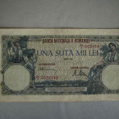 Bancnota 100000 lei 1 aprilie 1946/1 - Bancnota romaneasca