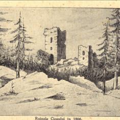 Ilustrata Ruinele Ciceului la 1866