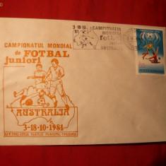 Plic Special Fotbal -Campionat Mond. Juniori Australia 1981