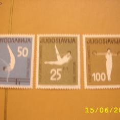 Iugoslavia 1963 sport gimnastica mi 1049-1051 - Timbre straine