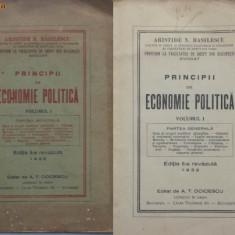 Aristide Basilescu , Doctor in drept , Principii de economie politica , 1933, Alta editura