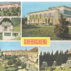 Carte postala-GHEORGHENI - Colaj - Carte postala tematica, Circulata, Printata