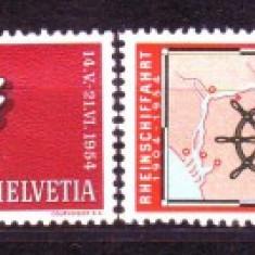 1954 Elvetia Mi. 593-596 conditie ** - Timbre straine