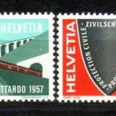 1957 Elvetia Mi. 637-640 conditie ** - Timbre straine