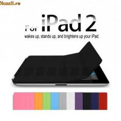 husa neagra  compatibila smart apple ipad 2 fata + spate