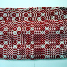 Covor din lana tesut manual 267 x 72 cm