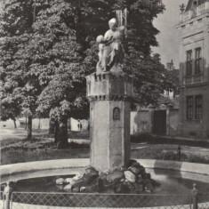Ilustrata Sibiu - Fantana arteziana - Carte Postala Transilvania dupa 1918
