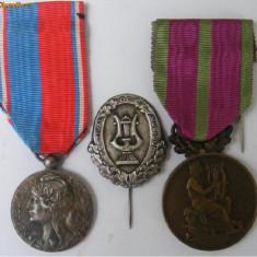 3 medalii (decoratii) vechi muzica Franta