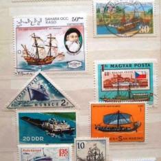 516 - Tematica marina, vapoare: Liberia, Germania, Sahara Occ., Monaco