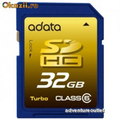 Memory Card A-Data 32 GB SDHC Class 6 Turbo SecureDigital Card-Ca nou - Secure digital (SD) card