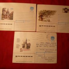 Set 3 Plicuri Ilustrate -Stefan cel Mare, Ion Creanga, Chisinau - Plic Papetarie