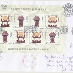 RFL 2004 ROMANIA plic FDC colita cu China stampila Congres UPU circulat efectiv, Romania de la 1950