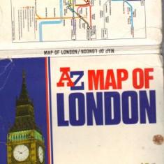 Harta AZ a Londrei, inclusiv harta metroului