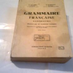 N.SERBAN \ N.DJIONAT - GRAMMAIRE FRANCAISE SUPERIEURE Ed.1937