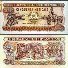 MOZAMBIC- 50 METICAIS 1986- UNC!! - bancnota africa