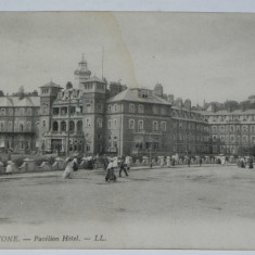 Carte postala veche FOLKESTONE PAVILION HOTEL. circulata craiova, Printata