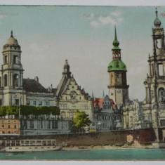 Carte postala foarte rara DRESDEN STANDEHAUS. 1910. DRESDA, Germania, Necirculata, Printata
