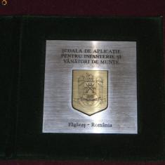 MPL2 - PLACHETA - TEMATICA MILITARA - VANATORI DE MUNTE - FAGARAS - Medalii Romania