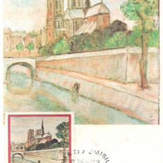 Ilustrata maxima- ARPHILA 75-PALLADY-Pe malul Senei --prima zi, An: 1975