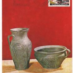 Ilustrata maxima- MARGINEA-Ceramica neagra