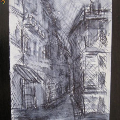 Grafica Bucuresti centrul vechi Lipscani-Blanari