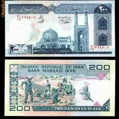 IRAN -200 RIALS - UNC!! - bancnota asia
