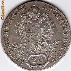 Austria 20 Kreuzer 1803 A, argint Franz II. XF/a.UNC, moneda DE COLECTIE