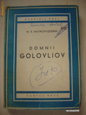 M. E. SALTACOV SCEDRIN - DOMNII GOLOVLIOV
