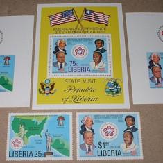 LIBERIA 1976 - BICENTENARUL USA - NEUZATE - Timbre straine