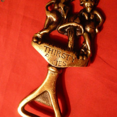 Desfacator de Capace Bere din bronz cu Spiridusi