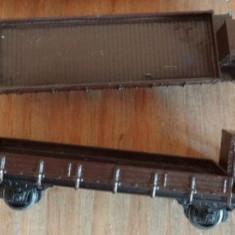 Vagon TT marfa, platforma cu cabina - 2 bucati - Macheta Feroviara