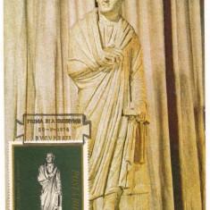 Ilustrata maxima-statuia unui CETATEAN ROMAN, An: 1974