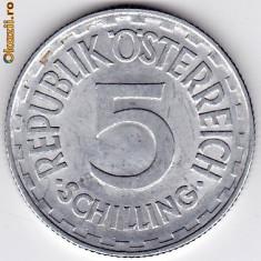 Austria 5 Schilling 1952, XF/a.UNC, RARA