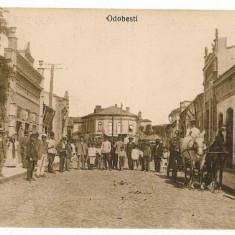 91 - ODOBESTI - Centru, Frizerie, muscal, - super animata - old postcard - used - 1918