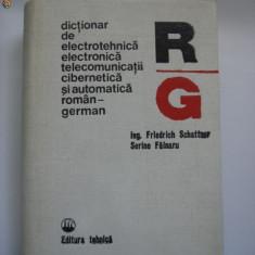 DICTIONAR DE ELECTROTEHNICA ELECTRONICA TELECOMUNICATII CIBERNETICA ROMAN GERMAN
