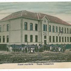 1271 - Bistrita Nasaud, NASAUD, Scoala elementara de stat - old PC - used -1930 - Carte Postala Transilvania dupa 1918, Circulata, Printata