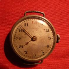 Ceas de argint tip 1906, marcaj 0, 800 cu Monograma - Ceas de mana